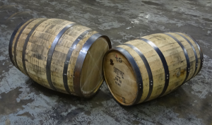 Hogshead (left) compared to a Bourbon Barrel (right).